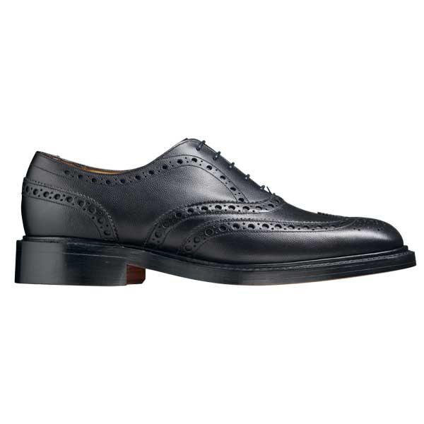 BARKER Charles Shoes - Oxford Brogue - Black Alpine Fine Grain