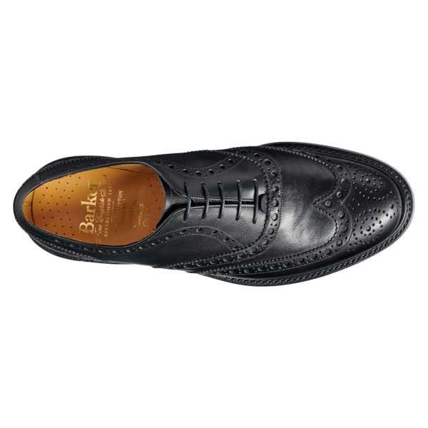 BARKER Charles Shoes - Oxford Brogue - Black Alpine Fine Grain