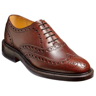 BARKER Charles Shoes - Oxford Brogue - Brown Alpine Fine Grain