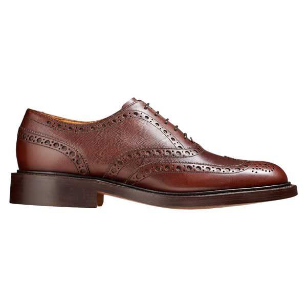 BARKER Charles Shoes - Oxford Brogue - Brown Alpine Fine Grain