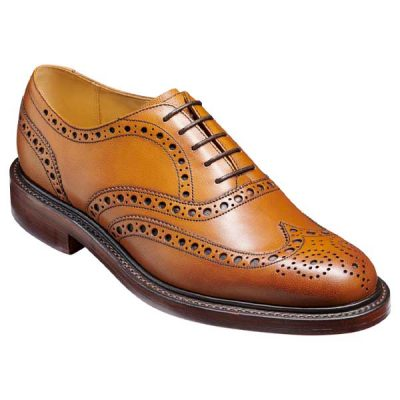 BARKER Charles Shoes - Oxford Brogue - Cedar Alpine Fine Grain