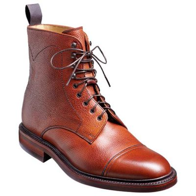 BARKER Donegal Boots - Mens Toe Cap - Antique Rosewood Calf