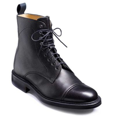 BARKER Donegal Boots - Mens Toe Cap - Black Calf