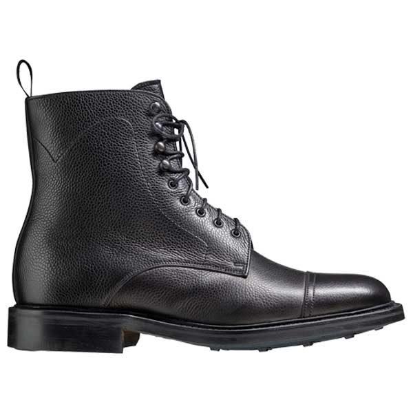 BARKER Donegal Boots - Mens Toe Cap - Black Calf