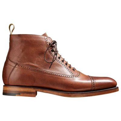 BARKER Foley Boots - Mens Toe Cap - Brown Soft Grain