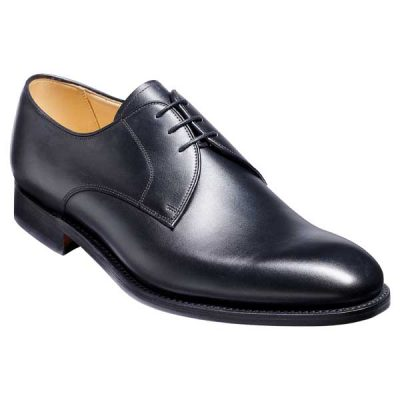 BARKER March Shoes - Mens Derby Style -Black Calf
