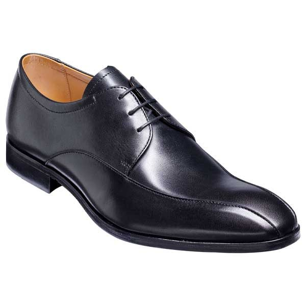 BARKER Rushden Shoes - Mens Derby Style - Black Calf