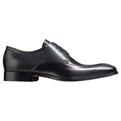 BARKER Rushden Shoes - Mens Derby Style - Black Calf