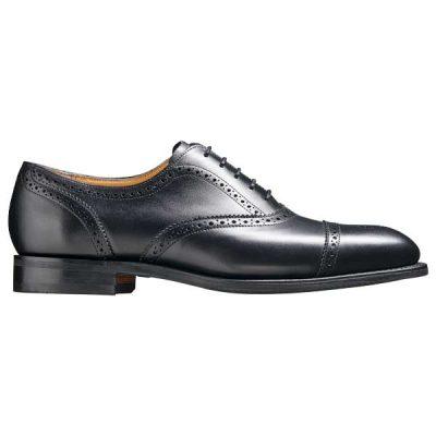 BARKER St Ives Shoes - Mens Oxford Brogue - Black Calf