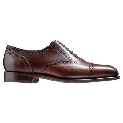 BARKER St Ives Shoes - Mens Oxford Brogue - Dark Walnut Calf