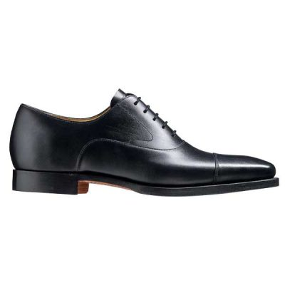 BARKER Wright Shoes - Mens Oxford Style Shoes - Black Calf