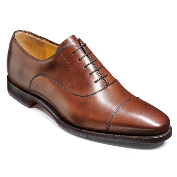 BARKER Wright Shoes - Mens Oxford Style Shoes - Walnut Calf