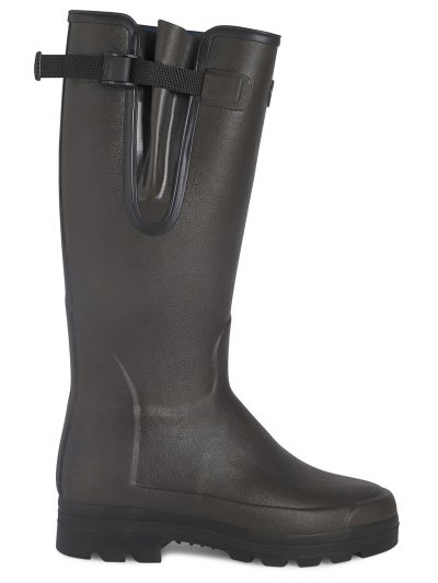 LE CHAMEAU Boots - Mens Vierzonord Neoprene Lined - Marron Fonce