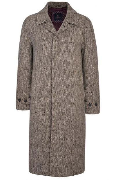 MAGEE Corrib Overcoat - Mens Handwoven Donegal Tweed - Camel