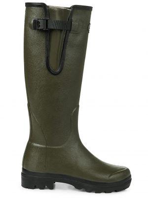 LE CHAMEAU Boots - Ladies Vierzon Jersey Lined - Vert Chameau