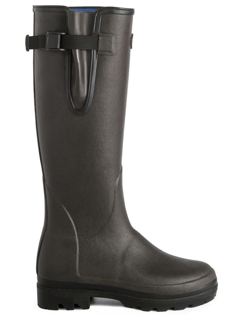 LE CHAMEAU Boots - Ladies Vierzonord Neoprene Lined - Marron Fonce