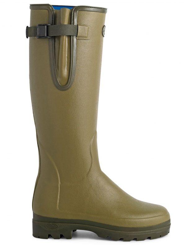 LE CHAMEAU Boots - Ladies Vierzonord Neoprene Lined - Vert Vierzon