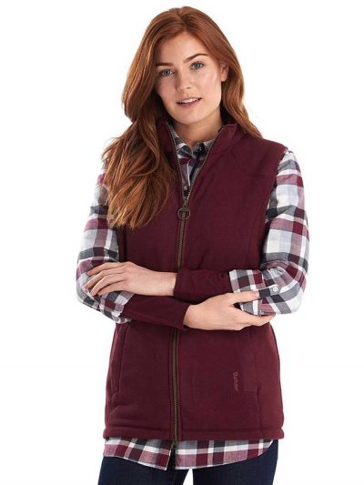 BARBOUR Gilet - Ladies Dunkeld Fleece - Bordeaux