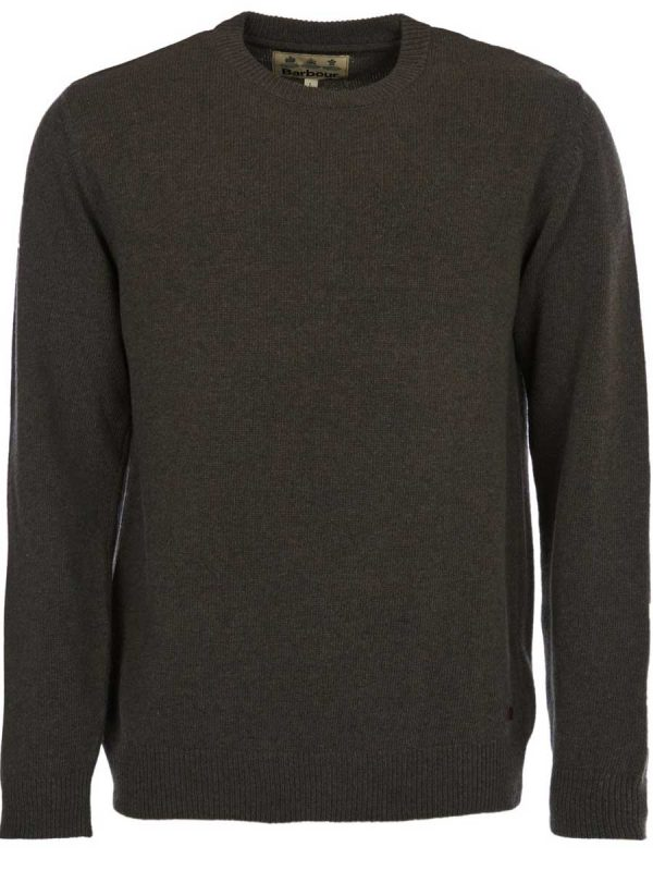 BARBOUR Jumper - Mens Nelson Essential Crew Neck - Seaweed