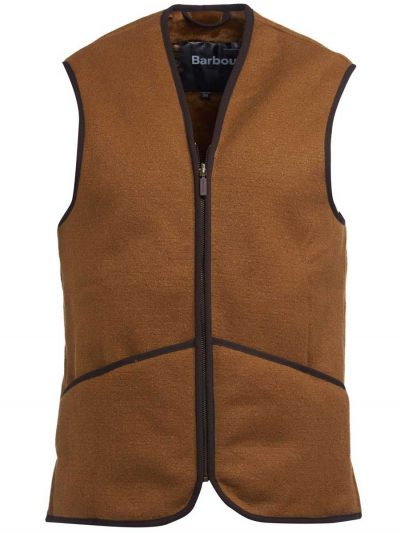 BARBOUR - Men's Warm Pile Waistcoat/Zip-In Liner - Brown