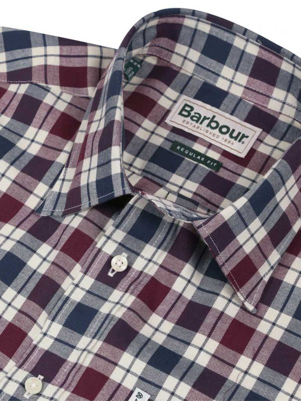 BARBOUR Shirts - Men's Astwell- Regular Fit - Merlot