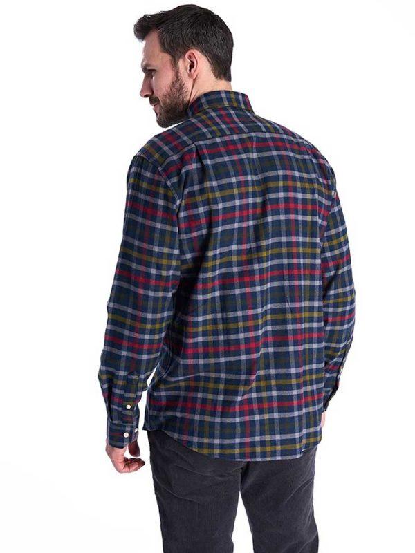 BARBOUR Shirts - Men's Hadlo- Super-Soft Brushed Cotton - Navy