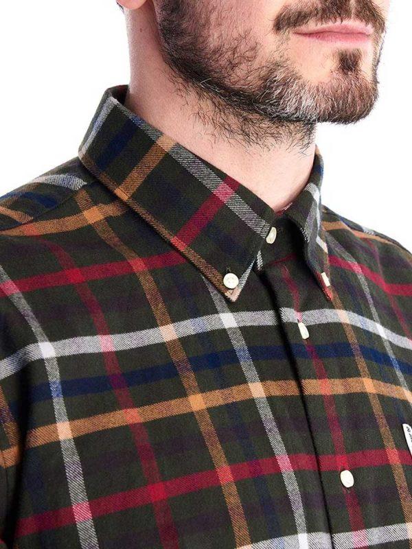 BARBOUR Shirts - Men's Hadlo - Super-Soft Brushed Cotton - Olive