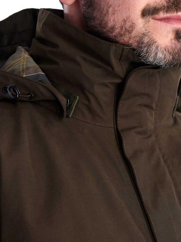 BARBOUR Waterproof Jacket - Mens Gosforth - Dark Olive