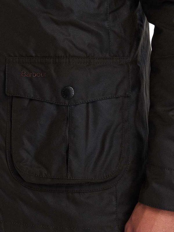 BARBOUR Wax Jacket - Mens Corbridge 6oz Sylkoil - Olive